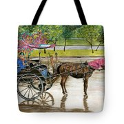 Waiting For Rider Jakarta Indonesia Tote Bag