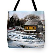 Essex Boatyard, Winter Tote Bag