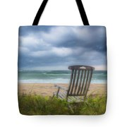 Waiting For Sunrise On The Dunes Tote Bag
