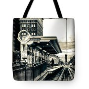 Waiting For The Blue Line Tote Bag