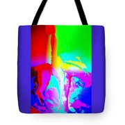 Sitting On My Horse Waiting For The Sun To Rise  Tote Bag by Hilde Widerberg