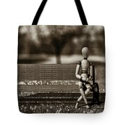 Waiting For The Taxi Tote Bag