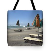 Waiting For The Tourists Tote Bag