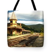 Waiting For The Train Tote Bag