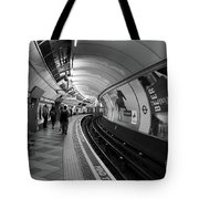 Waiting For Train Tote Bag