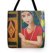 Waiting Girl  Tote Bag