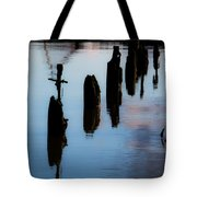 Waiting In  Line Tote Bag
