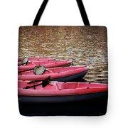 Waiting Kayaks Tote Bag
