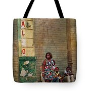 Waiting On A Ride Tote Bag
