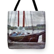 Waiting To Sail Tote Bag