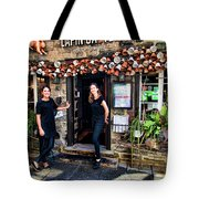 Waitresses At Outdoor French Terroir In Old Quebec City Tote Bag