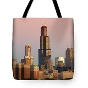 Wake Up Chicago Tote Bag by Sebastian Musial