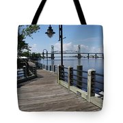 Walk Along The Fear River - Wilmington Tote Bag