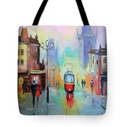 Walk In Prague Tote Bag