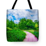 Walk Into Beauty Shaw's Nature Reserve Wet Lands Tote Bag