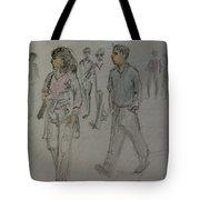 Walking Along The Strand Tote Bag