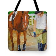Walking Back To The Stable Tote Bag