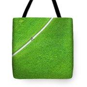 Walking Footpath In A Green Field Tote Bag