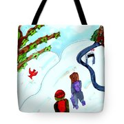 Walking Home From School Tote Bag