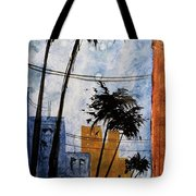 Walking Home, Watercolor Tote Bag