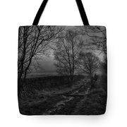 Walking In A Muddy Lane Tote Bag