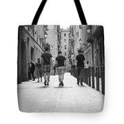 Walking In Barcelona Tote Bag