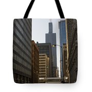 Walking In Chicago Tote Bag