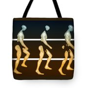 Walking In Line Tote Bag