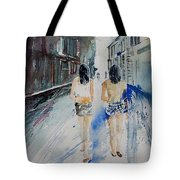 Walking In The Street Tote Bag
