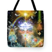 Walking Into The Light Tote Bag
