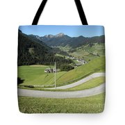 Walking Near Niederdorf In The Dolomites Tote Bag
