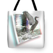 Walking On Water - Use Red-cyan 3d Glasses Tote Bag