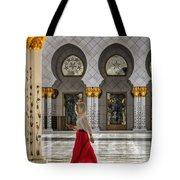 Walking Temple Tote Bag