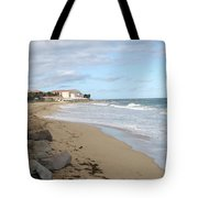 Walking The Beach In St Kitts Tote Bag