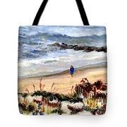 Walking The Beach On Long Beach Island Tote Bag
