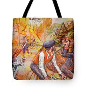 Walking The Dog 7 Tote Bag