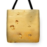 Walking The Dog Tote Bag by Mal Bray