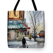 Walking The Dog Tote Bag by Ryan Radke