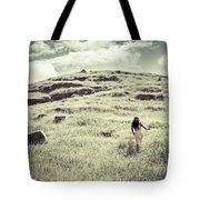 Walking The Field Tote Bag