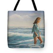 Walking The Surf Tote Bag