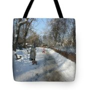 Walking To Gether Tote Bag