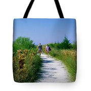 Walking To The Beach Tote Bag