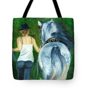 Walking To The Stable Tote Bag