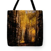 Walking With Aspens Tote Bag