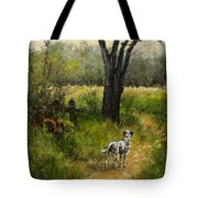 Walking With My Farley Tote Bag