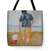Walking With Pops Tote Bag