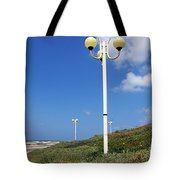 walkway along the Tel Aviv beach Tote Bag