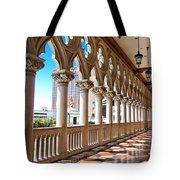 Walkway At The Venetian Hotel Tote Bag