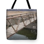 Walkway Over The Canal Tote Bag