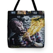 Wall In Fire Tote Bag by Normand Laporte